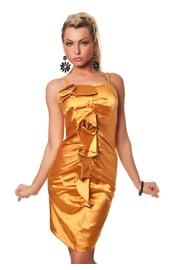 Платье с цветком золотое