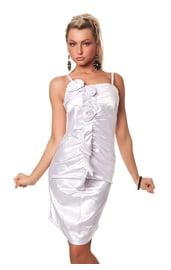 Платье с цветами белое