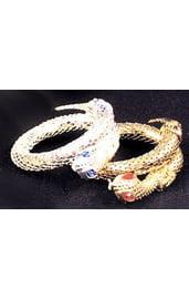 Серебристый браслет-змея