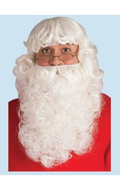 Парик и борода Санта Клауса Делюкс