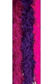 Боа из перьев фиолетовое