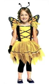 Костюм желтой бабочки детский