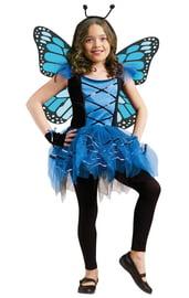Детский синий костюм бабочки