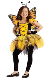 Детский желтый костюм бабочки