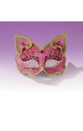 Розовая маска кошечки