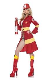 Красный костюм пожарной