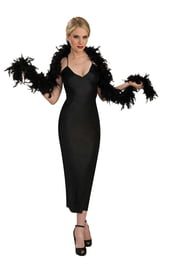 Черное боа из перьев