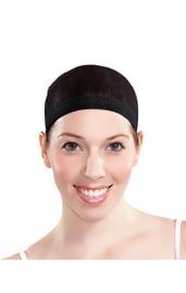 Черная шапочка под парик в сетку