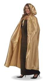 Золотистая накидка с капюшоном