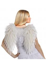 Ангельские перьевые крылья белые