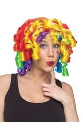 Парик радужного сумасшедшего клоуна