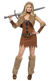 Коричневый костюм девушки Викинга