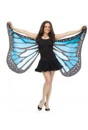 Мягкие крылья бабочки голубые
