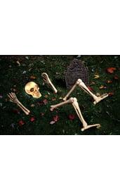 Торчащий скелет со светящейся головой
