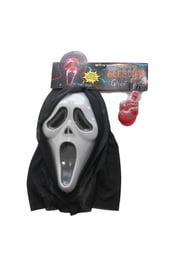 Ужасная маска Крика с кровью