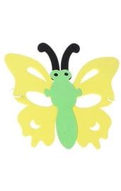 Маска в форме бабочки желтая