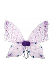 Крылья бабочки фиолетовые со стразами