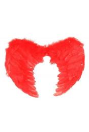 Крылья ангела красные с перьями