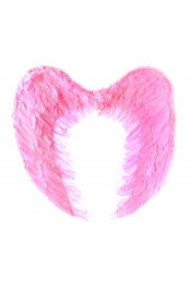 Крылья ангела розовые с перьями