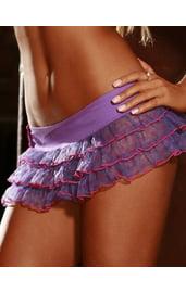 Сиреневая короткая юбка