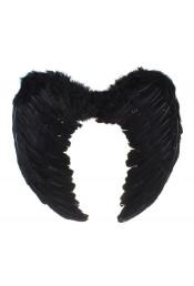 Крылья ангела черные с перьями