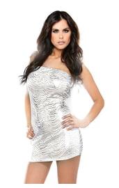 Клубное платье металлик