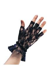 Кружевные перчатки без пальцев