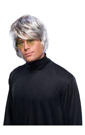 Мужской серый парик в стиле Битлз