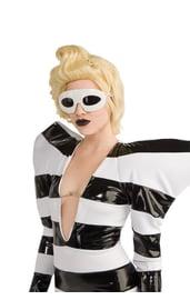 Белые очки Леди Гага