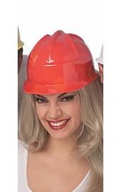 Красная строительная каска
