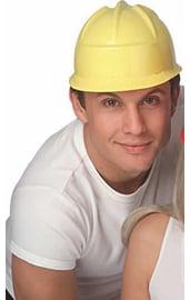 Желтая строительная каска