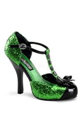 Женские зеленые туфли