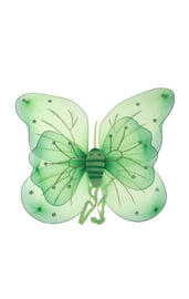 Двойные зеленые крылья бабочки