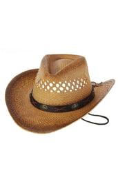 Ковбойская шляпа с ремешком