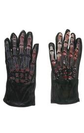 Перчатки Скелетные руки с кровью