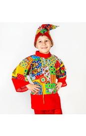 Детский пестрый костюм Петрушки
