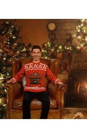 Рождественский джемпер с камином