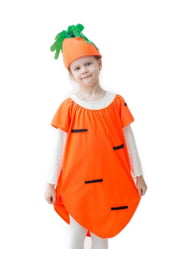 Костюм яркой морковки