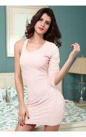 Розовое платье с пайетками