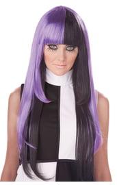 Фиолетово-черный парик 60-х