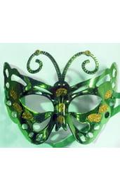 Маска бабочка зеленая