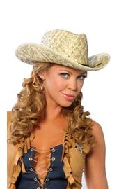 Соломенная ковбойская шляпа