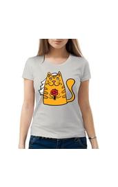 Женская футболка Кошка Невеста