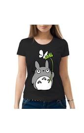 Женская футболка Тоторо с бабочкой