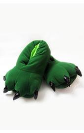 Мягкие зеленые лапы с когтями