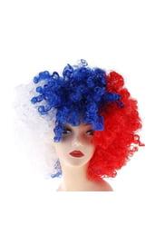 Клоунский парик Флаг России
