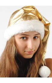 Новогодний золотистый колпак