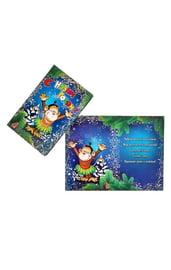 Новогодняя открытка Тропическая обезьянка