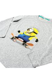 Серая футболка для мальчиков Миньоны