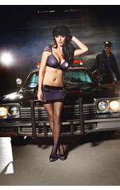 Узорчатые чулки полицейской